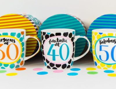 Fine Bone China Milestone Age Mugs