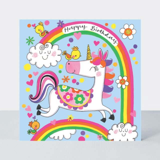 Jigsaw Card Happy Birthday Unicorn Amp Rainbows Rachel
