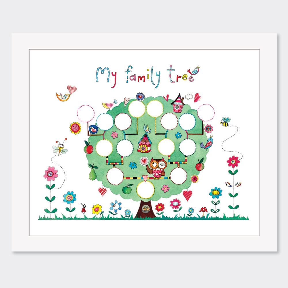 Mounted Limited Edition Print Family Tree