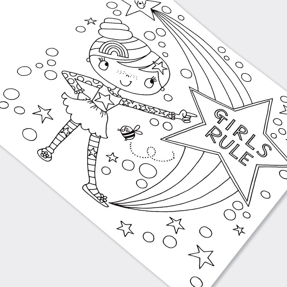 Girls Rule Colouring Book - Rachel Ellen Designs