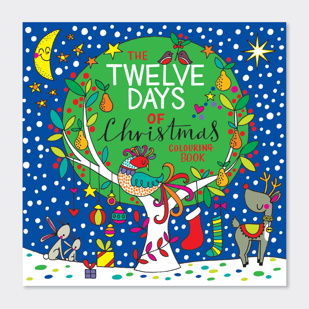 Twelve Days Of Christmas Book.Square Colouring Book 12 Days Of Christmas